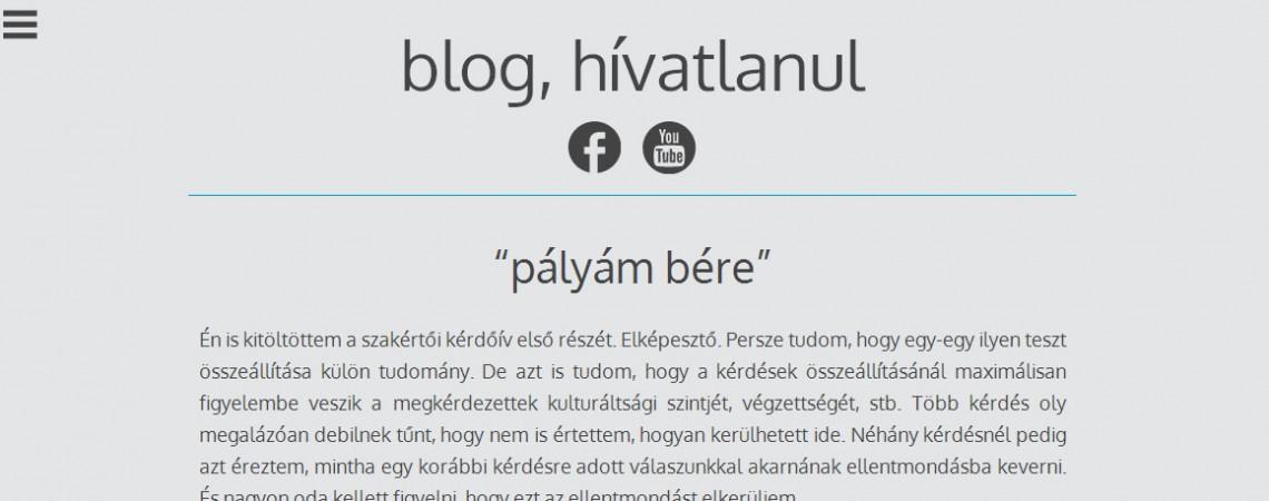 blog, hívatlanul